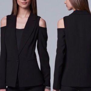 Simply Vera Vera Wang Cold-Shoulder Blazer Black